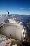 Americas, South America, Ecuador, Quito.  Scenic backdrop of the Andes mountains greets the flight into Quito, Ecuador.
