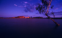 The Images from the Book Journey through Color and Time,Flooded clay pan in front of Rainbow valley at dusk Northern Territory Australia
