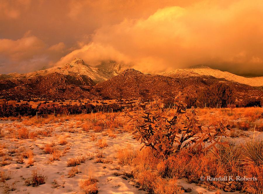 Sandia Mountains Snow Snow Storm Over Sandia