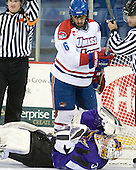 Riley Wetmore (Lowell - 16), Phil Cook (Mankato - 30) - The visiting Minnesota State University-Mankato Mavericks defeated the University of Massachusetts-Lowell River Hawks 3-2 on Saturday, November 27, 2010, at Tsongas Arena in Lowell, Massachusetts.