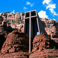 Sedona, Arizona, USA - The 'Chapel of the Holy Cross' (completed 1956), in Red Rock Country - Sculptor: Marguerite Brunswig Staude and Architects: Richard Hein and August K. Strotz