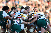Tom Croft of Leicester Tigers in action. Aviva Premiership match, between Leicester Tigers and Wasps on November 1, 2015 at Welford Road in Leicester, England. Photo by: Patrick Khachfe / Onside Images