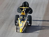 Feb 21, 2015; Chandler, AZ, USA; NHRA top dragster driver John Taylor Jr during qualifying for the Carquest Nationals at Wild Horse Pass Motorsports Park. Mandatory Credit: Mark J. Rebilas-