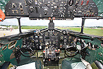 "A view of the instrument panel inside C-47 ""Yankee Doodle Dandy"", AF 44-76716, N8704."