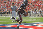 Ole Miss running back Brandon Bolden (34) scores on a touchdown reception vs. Kentucky at Vaught-Hemingway Stadium in Oxford, Miss. on Saturday, October 2, 2010. Ole Miss won 42-35.