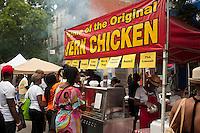 Harlem Week street fair is celebrated on West 135th Street in Harlem in New York on Sunday, August 19, 2012. (© Richard B. Levine)