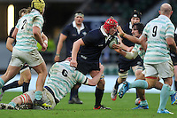 Fergus Taylor of Oxford University takes on the Cambridge University defence. The Varsity Match between Oxford University and Cambridge University on December 10, 2015 at Twickenham Stadium in London, England. Photo by: Patrick Khachfe / Onside Images
