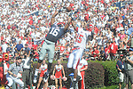 Ole Miss wide receiver Markeith Summers (16) makes a touchdown catch as Jacksonville State defensive back T.J. Heath (15)  defends at Vaught-Hemingway Stadium in Oxford, Miss. on Saturday, September 4, 2010.