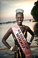 Nok Nora Duany, Miss Malaika New Sudan 2008, the winner of the national beauty contest. Central Equatoria, South Sudan.