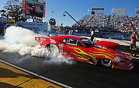 Mar. 12, 2011; Gainesville, FL, USA; NHRA pro mod driver Rickie Smith during qualifying for the Gatornationals at Gainesville Raceway. Mandatory Credit: Mark J. Rebilas-.
