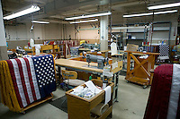 21 June 2005 - Oaks, PA - View of an empty workshop at the Annin & Co. flag manufacturing plant in Oaks, PA. Photo Credit: David Brabyn.