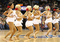 Feb 17, 2010; New Orleans, LA, USA; New Orleans Hornets Honeybees dancers perform during the second half of a game against the Utah Jazz at the New Orleans Arena. The Jazz defeated the Hornets 98-90. Mandatory Credit: Derick E. Hingle-US PRESSWIRE