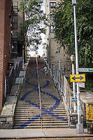 A stair street at West 187 Street and Overlook Terrace in the New York neighborhood of Washington Heights on Saturday, October 18, 2014. (© Richard B. Levine)