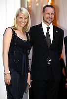Crown Prince Haakon & Crown Princess Mette-Marit of Norway's three-day visit to Poland..Dinner at the Presidential Palace in Warsaw.