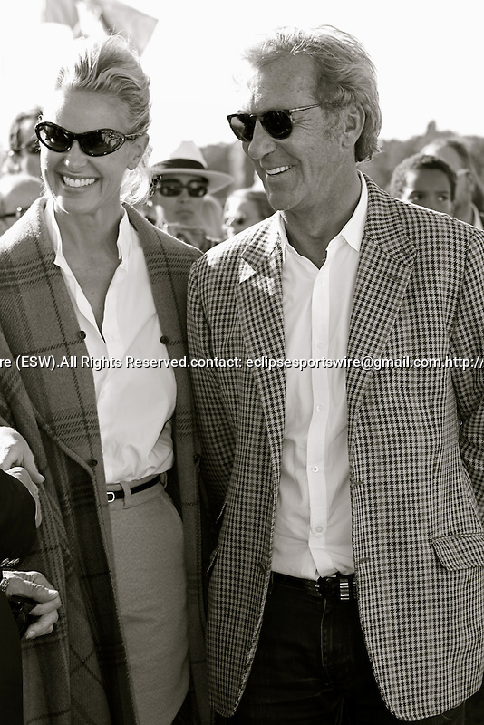 Final of the Polo French Open. Tres Marias Team defeats  HB Polo Team.Philippe Fatien (Owner of Castel Group)  and his wife