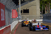 Honda Grand Prix of St. Petersburg, 3 April, 2005.Dario Franchitti leads a group into turn 10..Copyright©F.Peirce Williams 2005.  ref.Digital Image Only