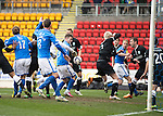 St Johnstone v Hibs...22.03.14    SPFL<br /> A goalmouth scramble as Steven MacLean puts the ball in the net<br /> Picture by Graeme Hart.<br /> Copyright Perthshire Picture Agency<br /> Tel: 01738 623350  Mobile: 07990 594431