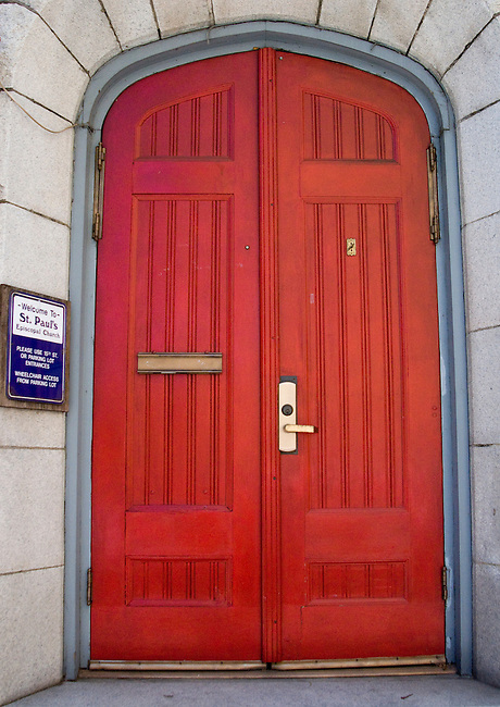 Red Door of St' Paul's Church, Sacramento