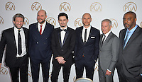Gary Gilbert &amp; Jordan Horowitz &amp; Damien Chazelle &amp; Fred Berger &amp; Mark Platt at the 2017 Producers Guild Awards at The Beverly Hilton Hotel, Beverly Hills, USA 28th January  2017<br /> Picture: Paul Smith/Featureflash/SilverHub 0208 004 5359 sales@silverhubmedia.com