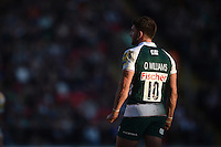 Owen Williams of Leicester Tigers looks on during a break in play. Aviva Premiership match, between Leicester Tigers and Wasps on November 1, 2015 at Welford Road in Leicester, England. Photo by: Patrick Khachfe / Onside Images