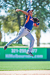 13 March 2014: New York Mets infielder Ruben Tejada warms up with infield drills prior to a Spring Training game against the Washington Nationals at Space Coast Stadium in Viera, Florida. The Mets defeated the Nationals 7-5 in Grapefruit League play. Mandatory Credit: Ed Wolfstein Photo *** RAW (NEF) Image File Available ***