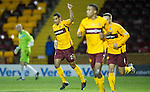 Motherwell v St Johnstone...10.11.10  .Nick Blackman celebrates his hat-trick.Picture by Graeme Hart..Copyright Perthshire Picture Agency.Tel: 01738 623350  Mobile: 07990 594431