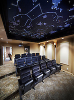 Home Theater With Star Ceiling
