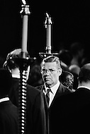 June 7th 1968, Manhattan, New York City, New York. <br /> Former Secretary of Defense Robert S. McNamara at St. Patrick's Cathedral for the funeral of Senator Robert Kennedy.