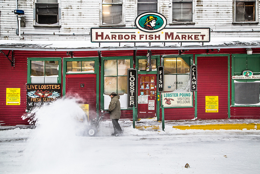 Harbor fish market in winter coast of maine photography for Fish market portland maine