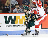 Drew MacKenzie (Vermont - 2), Alex Chiasson (BU - 9) - The visiting University of Vermont Catamounts tied the Boston University Terriers 3-3 in the opening game of their weekend series at Agganis Arena in Boston, Massachusetts, on Friday, February 25, 2011.