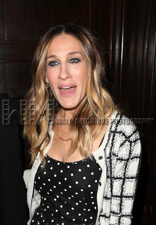 Sarah Jessica Parker attending 'Love 'n' Courage' the 10th Annual Benefit for the Theater for the New City Emerging Playwrights Program Celebrating Charles Busch at the National Arts Club in New York City on 2/25/2013