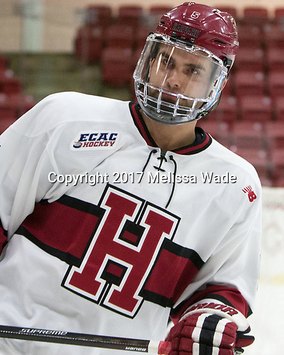 Clay Anderson (Harvard - 5) - The Harvard University Crimson defeated the St. Lawrence University Saints 6-3 (EN) to clinch the ECAC playoffs first seed and a share in the regular season championship on senior night, Saturday, February 25, 2017, at Bright-Landry Hockey Center in Boston, Massachusetts.