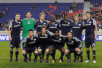 New England Revolution starting eleven. The New York Red Bulls defeated the New England Revolution 3-0 during a U. S. Open Cup qualifier round match at Red Bull Arena in Harrison, NJ, on May 12, 2010.