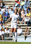 North Carolina's Whitney Engen heads the ball on Sunday, October 15th, 2006 at Fetzer Field in Chapel Hill, North Carolina. The University of North Carolina Tarheels defeated the Virginia Tech Hokies 1-0 in an Atlantic Coast Conference NCAA Division I Women's Soccer game.