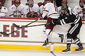 Christopher Brown (BC - 10), Brandon Duhaime (PC - 9) - The Boston College Eagles defeated the visiting Providence College Friars 3-1 on Friday, October 28, 2016, at Kelley Rink in Conte Forum in Chestnut Hill, Massachusetts.The Boston College Eagles defeated the visiting Providence College Friars 3-1 on Friday, October 28, 2016, at Kelley Rink in Conte Forum in Chestnut Hill, Massachusetts.