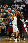 23 MAR 2012:  Ashley Dorner (32) of Ashland and Kyria Buford (21) of shaw battle for the ball during the Division II Womens Basketball Championship held at Bill Greehey Arena in San Antonio, TX.  Shaw University defeated Ashland University 88-82 for the national title.  Rodolfo Gonzalez/ NCAA Photos