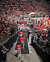 Ohio State Buckeyes basketball team takes the floor for the first time this season during their game against Morgan State Bears at The Value City Arena at the Jerome Schottenstein Center on November 9, 2013.  (Dispatch photo by Kyle Robertson)