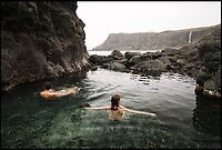 BNPS.co.uk (01202 558833)<br /> Pic: WildGuideScotland/BNPS<br /> <br /> Huge rock pool in Talisker Bay on Skye.<br /> <br /> Scotland's stunning unspoiled scenery is being shown in a whole new light in a book that reveals the hidden gems off the beaten track north of the border.<br /> <br /> Three young photographers travelled the width and breadth of Scotland and snapped 750 picturesque places which include shimmering lochs, ancient forests, lost ruins, hidden beaches, secret islands, dramatic cliffs, tiny glens and mysterious grottoes. <br /> <br /> Friends Kimberley Grant, David Cooper and Richard Gaston, all in their late 20s, have spent the past two years exploring lesser known idyllic spots which they are keen to bring to a wider audience.