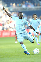 CJ Sapong Sporting KC forward in action... Sporting KC defeated FC Dallas 2-1 at LIVESTRONG Sporting Park, Kansas City, Kansas.