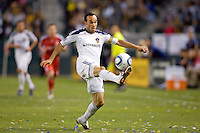 LA Galaxy forward & team Captain Landon Donovan (10) traps a ball. The LA Galaxy and Toronto FC played to a 0-0 draw at Home Depot Center stadium in Carson, California on Saturday May 15, 2010.  .