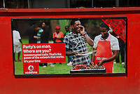 """Vodafone advertising: """"Party's on man. Where are you?"""" Along with Tigo and Glo, Vodafone plays on network availability in the wake of the 2009 network congestion debate."""