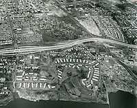 1968 March 20..Assisted Housing.Grandy Village...Aerial view looking North..Sam McKay.NEG# SLM68-19-15.NRHA# 4012.