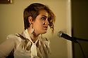 """09.11.11. Harrogate, UK. """"Sitting Room"""" comedy club holds its regular monthly gig at the St George Hotel, Harrogate. the line up is: Tom Taylor (MC), Simon Lipson, Bryan Lacey and Felix Dexter. Picture shows singer/songrwriter Lily Kerbey. Mandatory credit: Jane Hobson."""