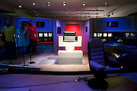 "2 October 2006 - New York City, NY - A model of USS Enterprise ""Bridge"" stands on display at the preview of items from the TV show Star Trek at Christie's auction house in New York City, USA, 2 October 2006. The auction, on October 5-7, celebrates the show's 40th anniversary."