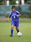 Rachel-Rose Cohen of Duke on Sunday October 2nd, 2005 at SAS Stadium in Cary, North Carolina. The Duke University Blue Devils defeated the North Carolina State University Wolfpack 1-0 during an Atlantic Coast Conference women's soccer game.