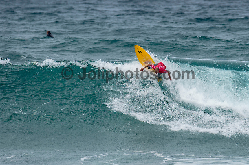 BELLS BEACH, Victoria/AUS (Monday, March 28, 2016) Barton Lynch (AUS) - Action at the Rip Curl Pro Bells Beach, the second stop on the World Surf League (WSL) Championship Tour (CT), continued today with the remaining six heats of Round Three before the contest was called off for the day.<br /> There were onshore South West winds throughout the day with a dropping swell in the 3'-5' range. <br /> The Heritage Round with Damien Hardman (AUS) and Barton Lynch (AUS) was held today with Lynch coming out victorious. <br /> <br /> Bells Beach has been hosting surfing tournaments for more than 50 years now, making it the most renowned spot on the raw and rugged southern coast of Victoria, Australia. The list of  Rip Curl Pro event champions is a veritable who's who of surfing icons, including many world champions.<br /> <br /> Surfing's greats have a way of dominating Bells. Mark Richards, Kelly Slater, and Mick Fanning all have four Bells trophies; Michael Peterson and Sunny Garcia, three; While Simon Anderson, Tom Curren, Joel Parkinson, Andy Irons, and Damien Hardman each grabbed a pair.<br /> <br /> The story is similar on the women's side. Lisa Andersen and Stephanie Gilmore have four Bells titles; Layne Beachley and Pauline Menczer, three; while Kim Mearig and Sally Fitzgibbons each have two.<br /> <br /> The 2016 event is about to kick off tomorrow and there was a packed warm up session at Bells this morning. <br /> Photo: joliphotos.com
