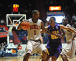 "Ole Miss' Terrance Henry (1) vs. LSU's Ralston Turner (22) at the C.M. ""Tad"" Smith Coliseum in Oxford, Miss. on Saturday, February 25, 2012. (AP Photo/Oxford Eagle, Bruce Newman).."
