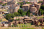 View of the Forum with Temple of Antonius and Faustina ( left) and Temple of Venus and Roma (right).  Rome