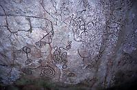 La Piedra Pintada, a huge boulder covered in pre-Columbian petroglyphs, El Valle de Anton, Panama