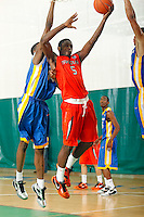 April 10, 2011 - Hampton, VA. USA;  Arnaud Adala Moto participates in the 2011 Elite Youth Basketball League at the Boo Williams Sports Complex. Photo/Andrew Shurtleff
